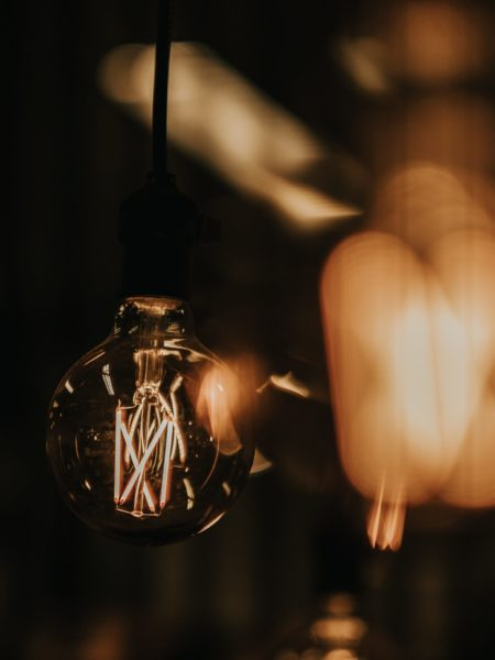closeup photo of incandescent lamp